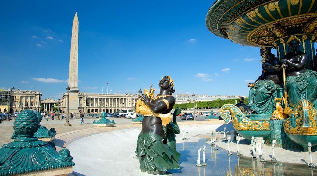 Place de la Concorde che include statua o scultura