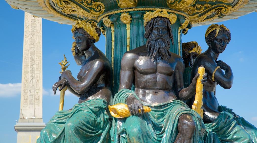 Place de la Concorde caratteristiche di statua o scultura