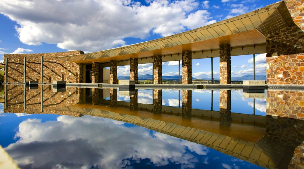 Yarra Valley featuring a lake or waterhole and modern architecture