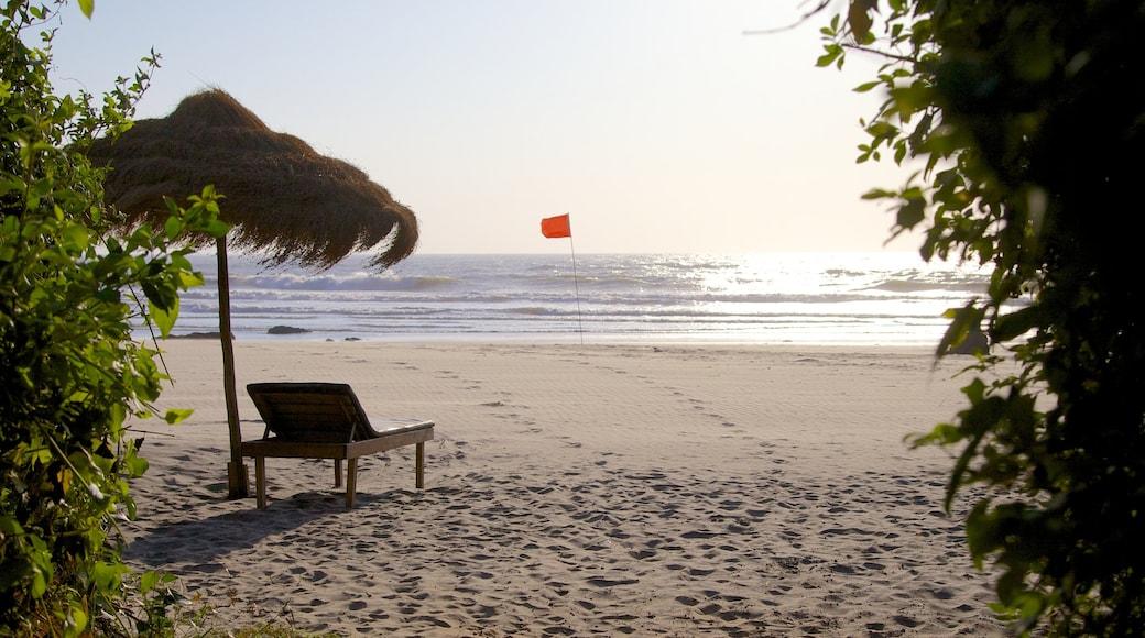 Ashvem Beach featuring a sandy beach