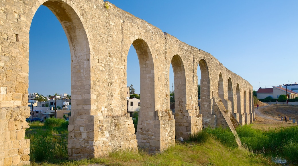 Larnaca Aqueduct which includes building ruins