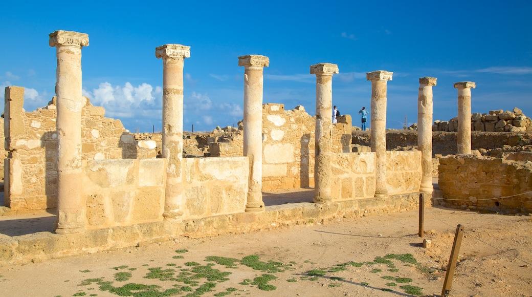 Paphos Archaeological Park showing building ruins