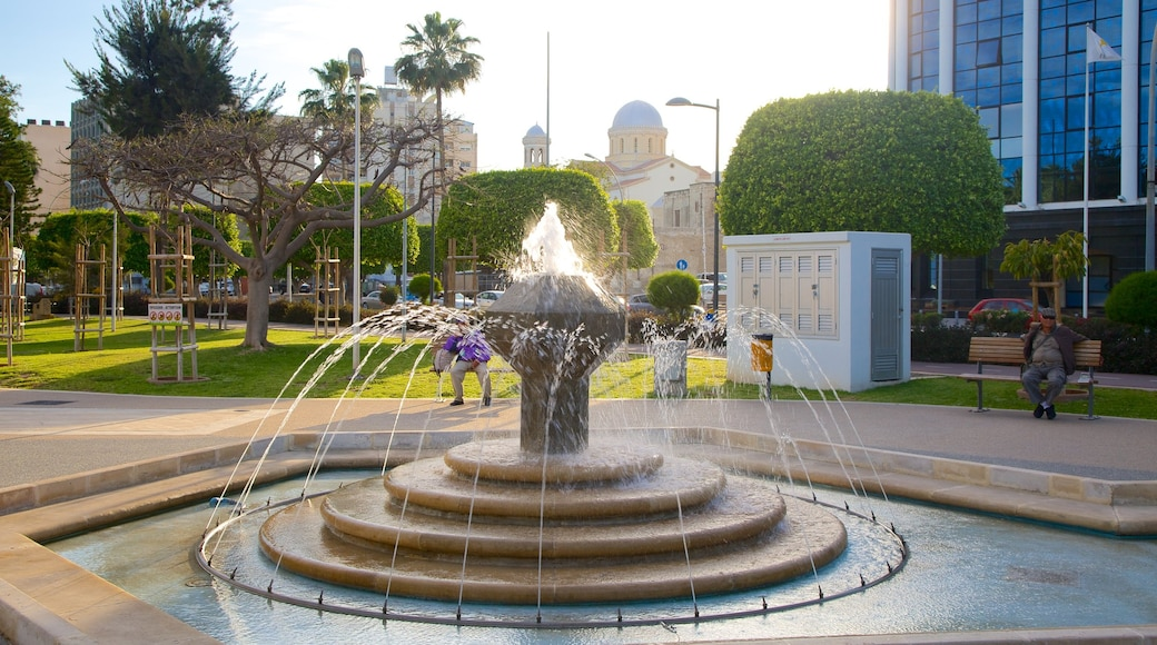 Limassol featuring a fountain