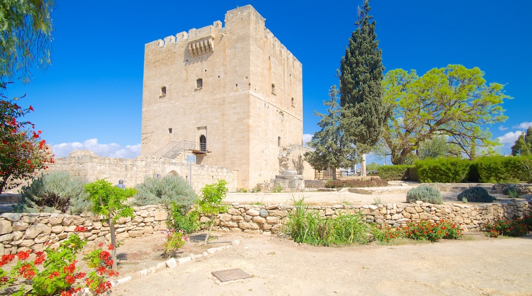 Kolossi Castle showing heritage architecture, a garden and a castle