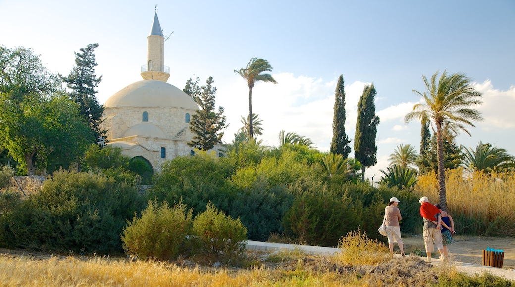 Hala Sultan Tekke which includes a mosque, heritage architecture and religious aspects