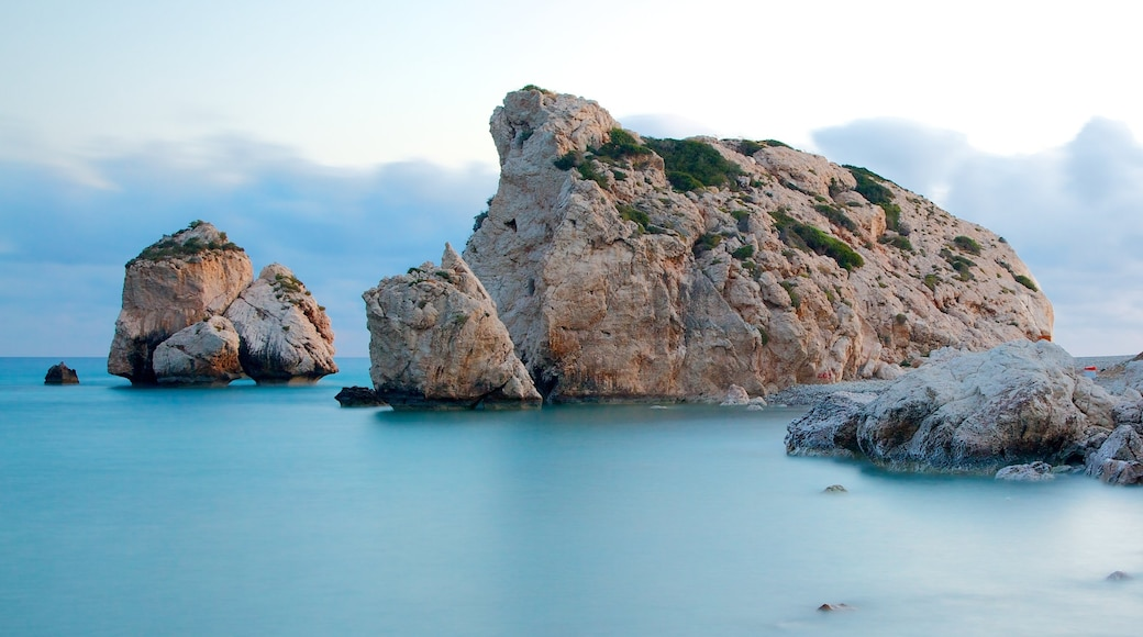 Aphrodite\'s Rock showing rugged coastline