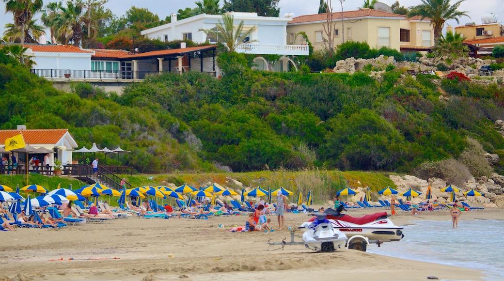 Coral Bay Beach which includes a sandy beach