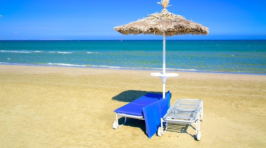 Larnaca which includes a beach