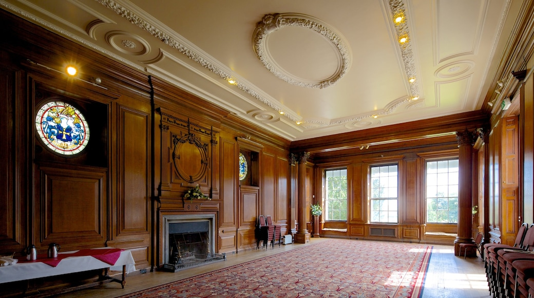 Croxteth Hall and Country Park which includes heritage architecture and interior views