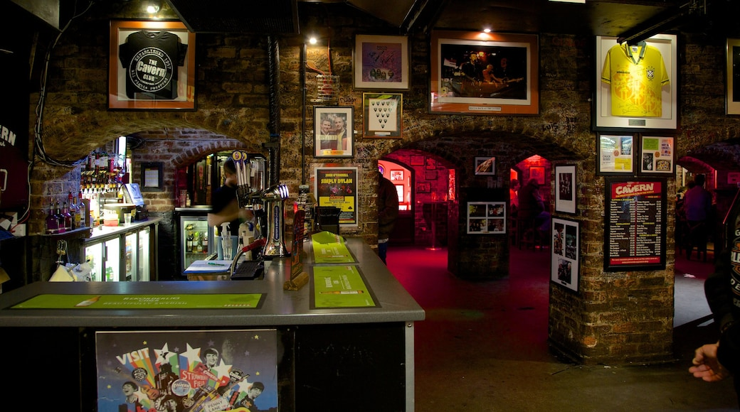 Cavern Club which includes interior views and a bar