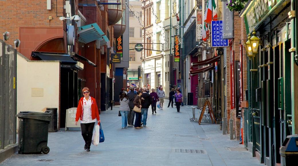 Cavern Club showing street scenes