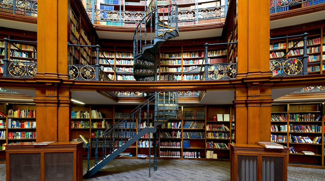 Liverpool Central Library showing interior views
