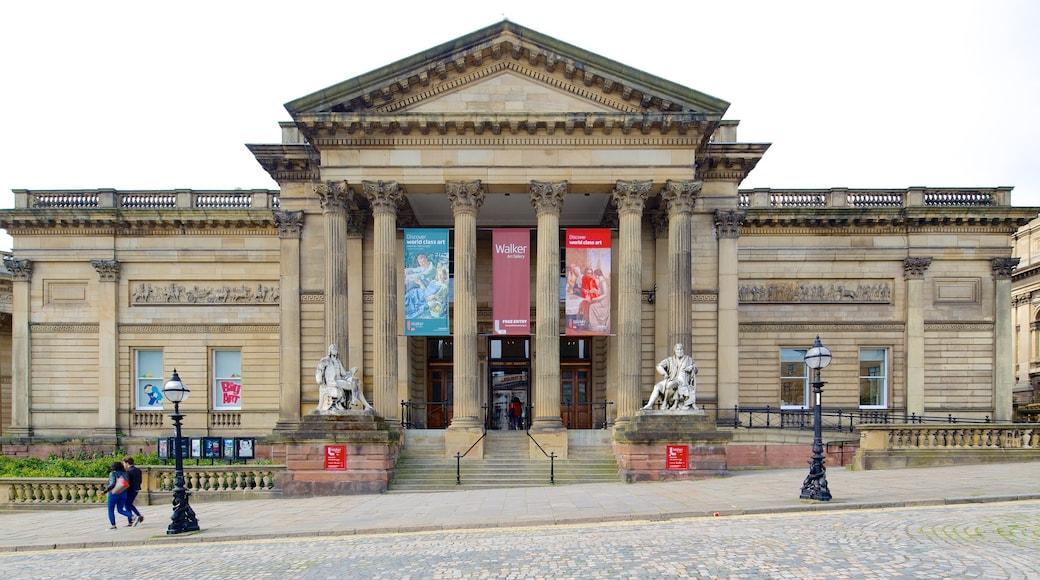 Walker Art Gallery som inkluderer gatescener