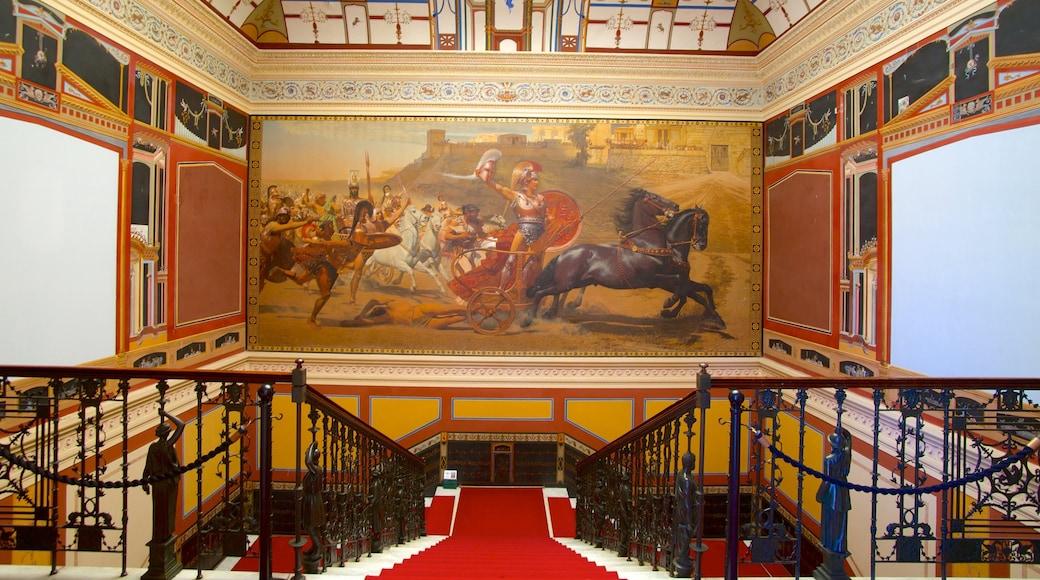 Achilleion ofreciendo arte, palacio y vistas de interior