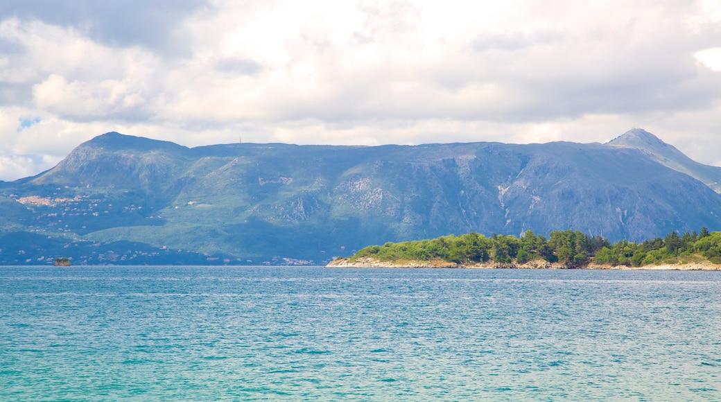 Pantokrator welches beinhaltet Landschaften, Bucht oder Hafen und allgemeine Küstenansicht