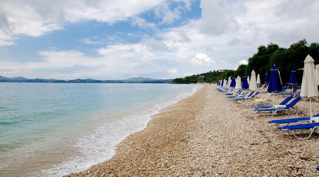 Barbati Beach featuring landscape views, a pebble beach and tropical scenes