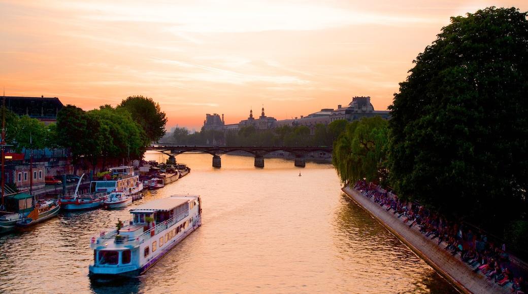 新橋 呈现出 河流或小溪, 夕陽 和 橋樑