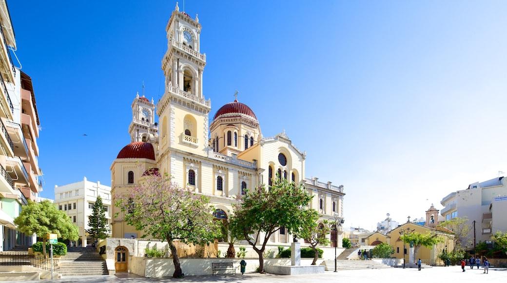 Kathedrale Agios Minas mit einem religiöse Aspekte, Straßenszenen und historische Architektur