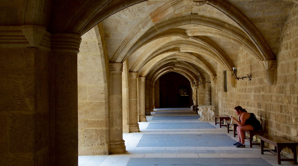 Palace of the Grand Master of the Knights of Rhodes showing heritage architecture