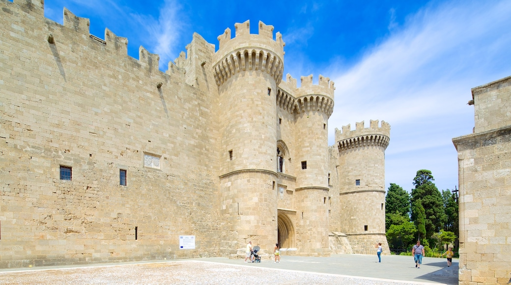 Palace of the Grand Master of the Knights of Rhodes showing heritage architecture and a castle