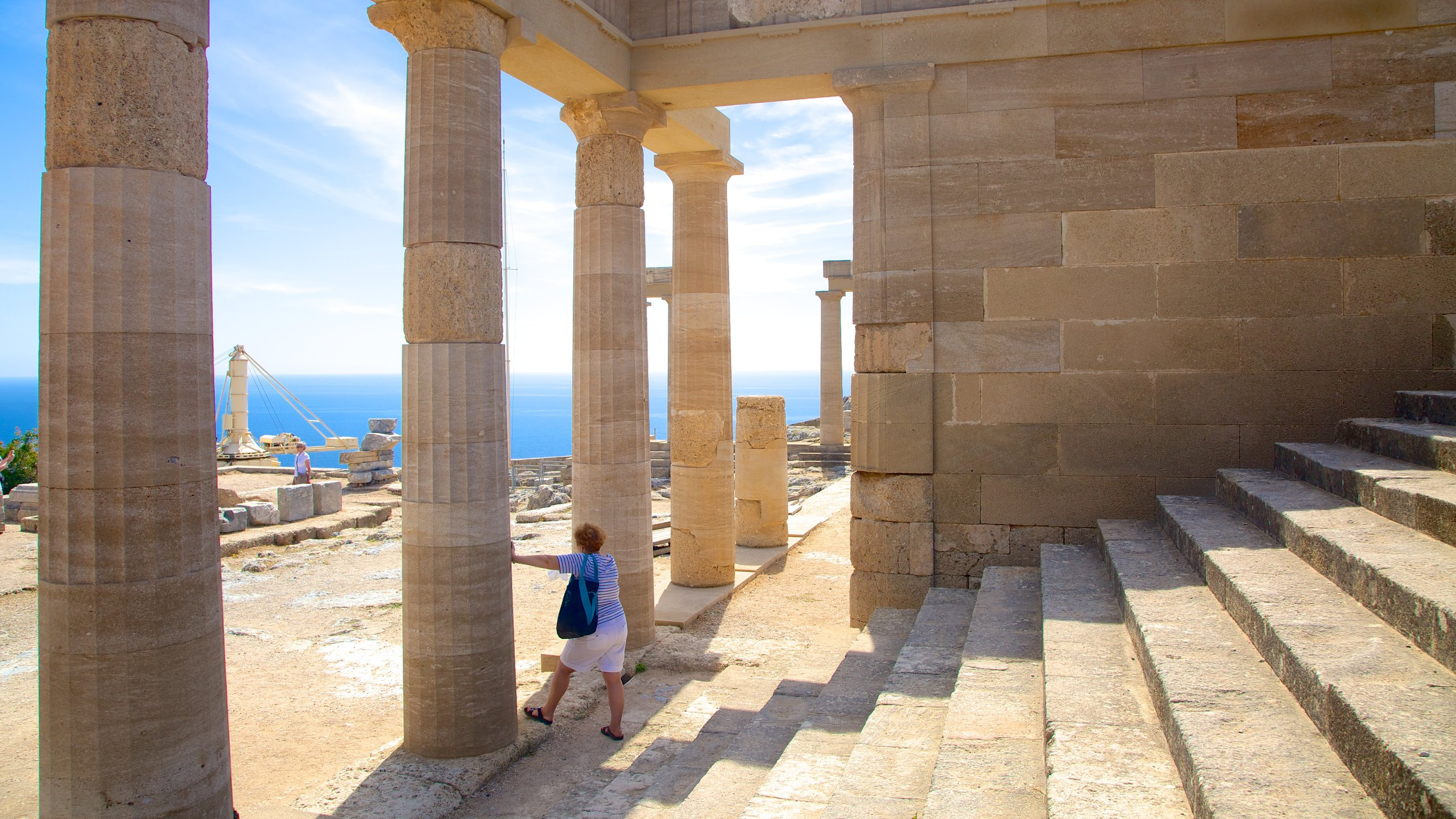 Investigate the remains of temples and fortifications at the ancient hilltop fortress that stood watch over Lindos for more than 2,000 years.