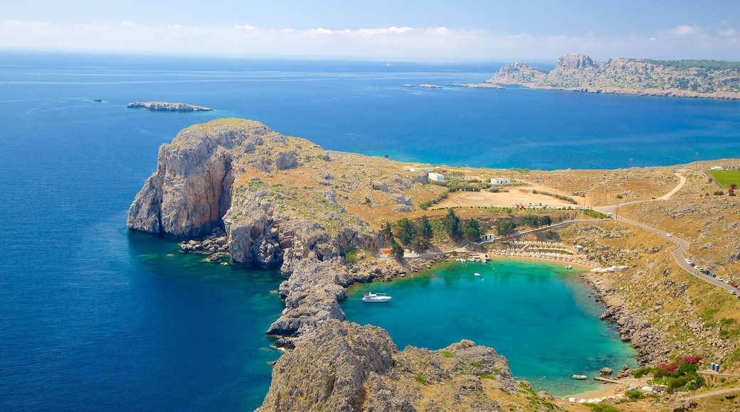 Acropolis of Lindos which includes rugged coastline