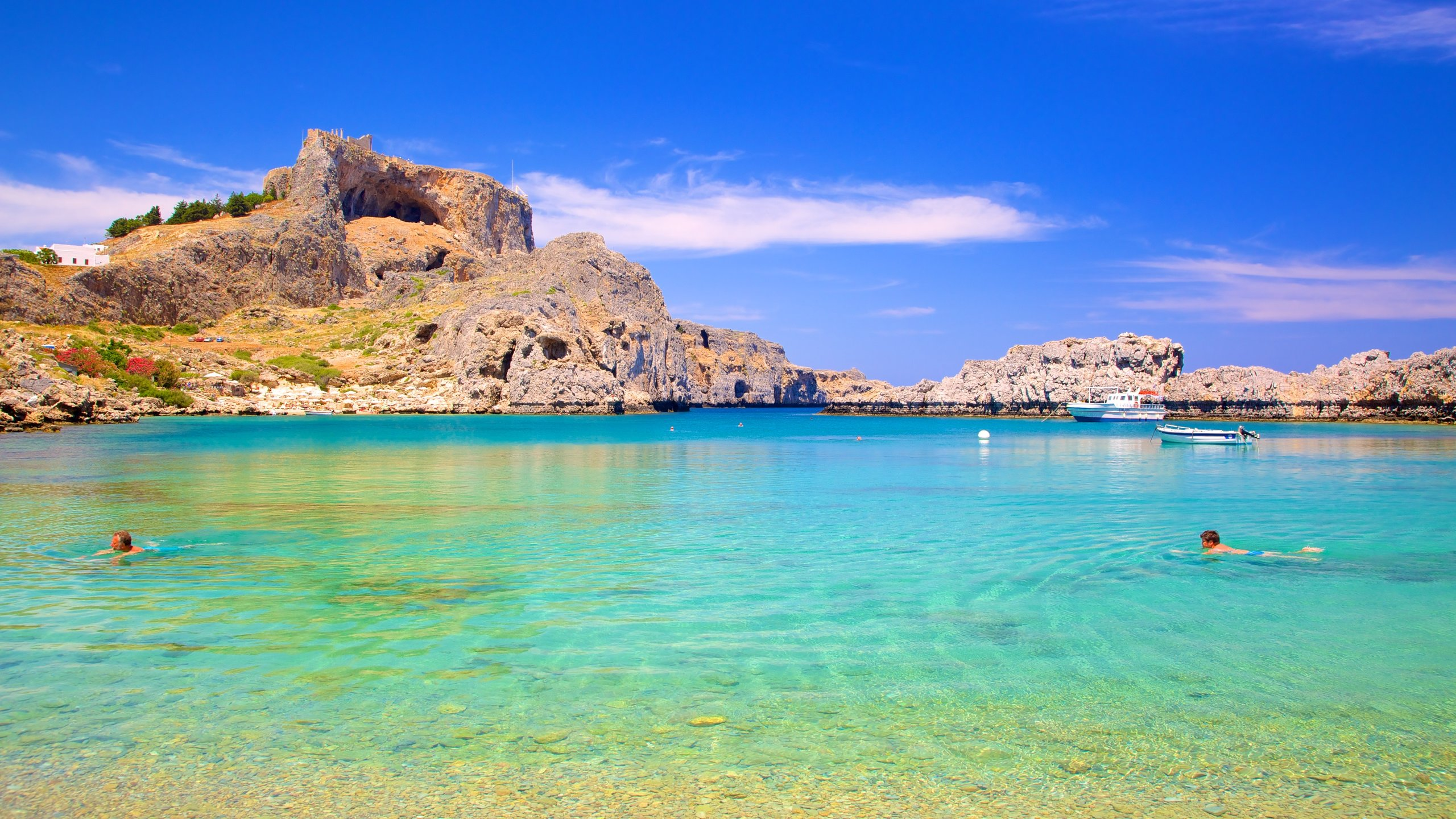 Soak up the sun on this picturesque sandy strip, where St. Paul is said to have landed when he came to preach to the people of Rhodes.