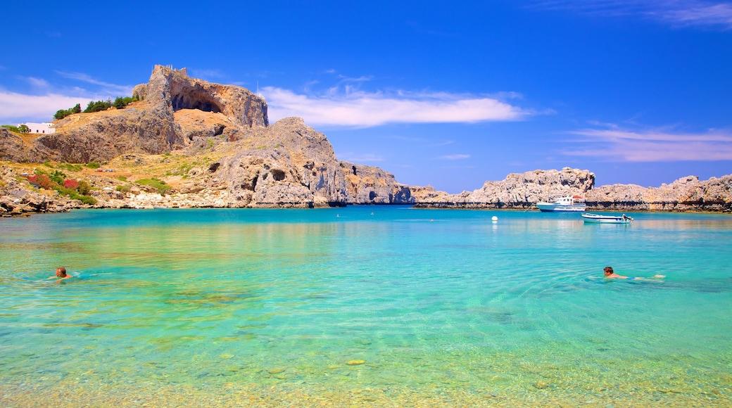 Lindos featuring general coastal views