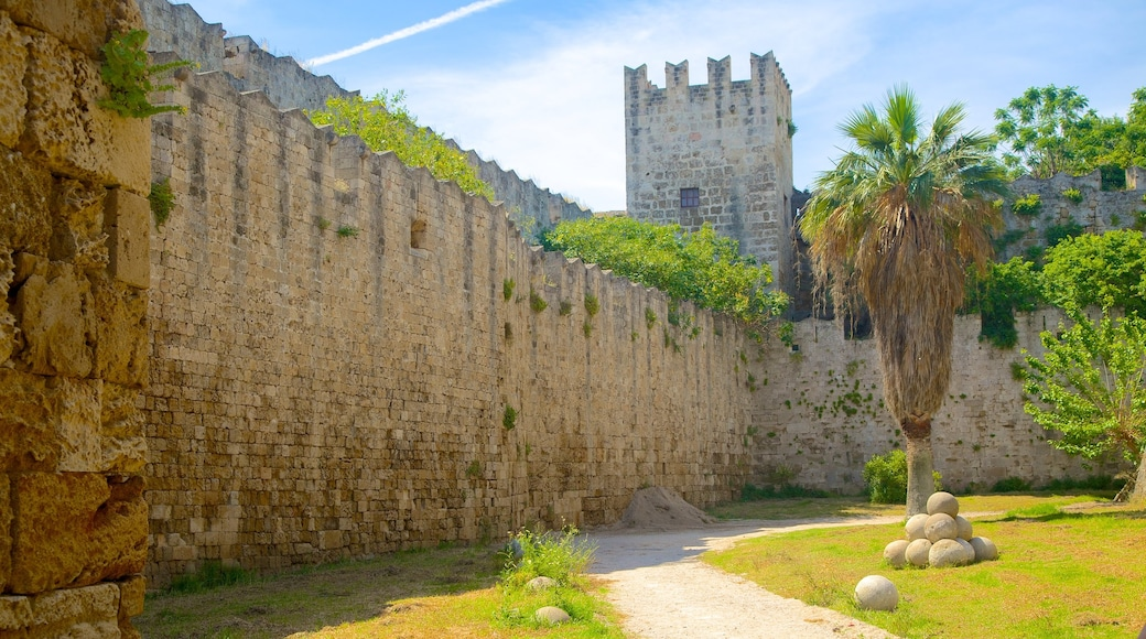 Rhodes Old Town which includes a castle