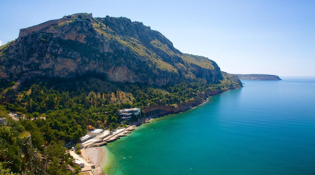 Arvanitia Beach which includes general coastal views