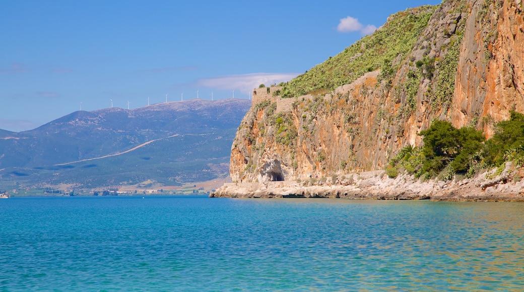 Arvanitia Beach which includes rocky coastline