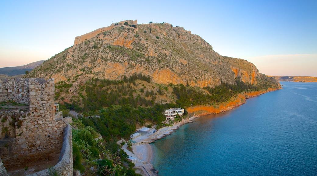 Arvanitia Beach featuring general coastal views and a sunset