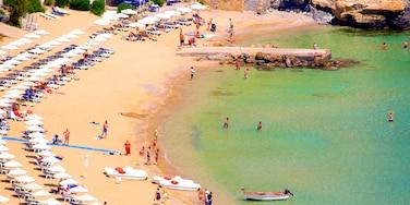 Lindos Beach which includes a sandy beach