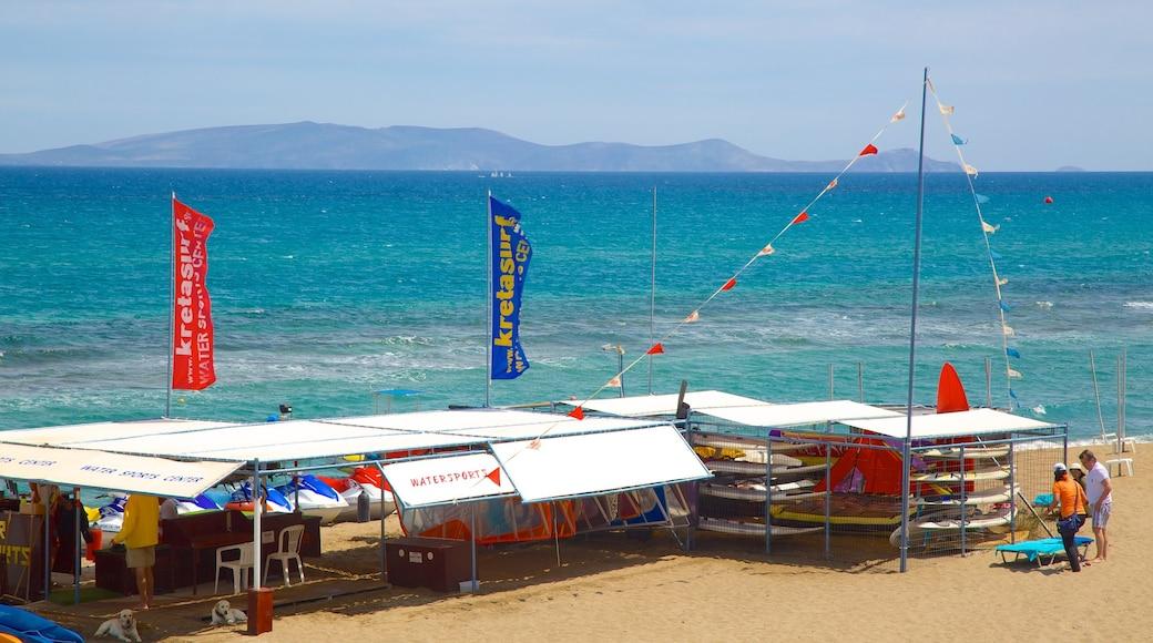 Ammoudara qui includes vues littorales et plage de sable