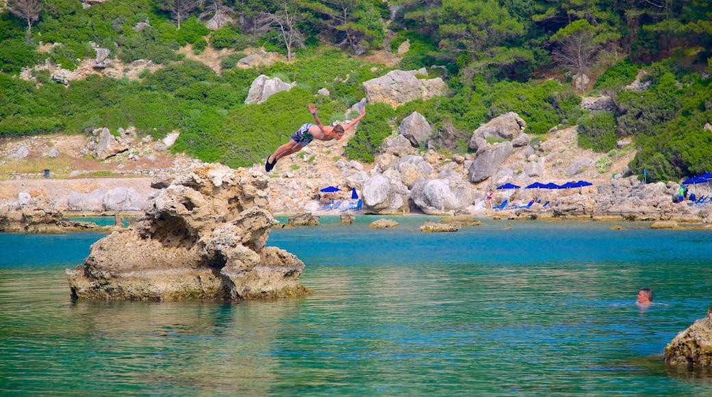 Anthony Quinn Bay showing rocky coastline