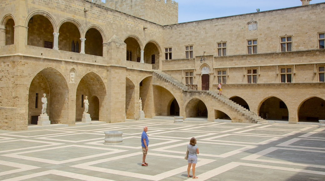 Palace of the Grand Master of the Knights of Rhodes featuring heritage architecture, a square or plaza and a castle