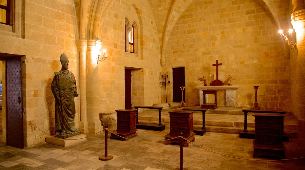 Palace of the Grand Master of the Knights of Rhodes showing art, interior views and heritage architecture