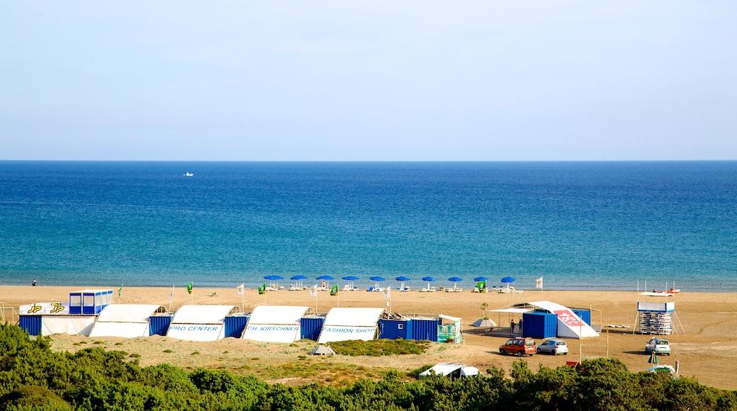 Prassonissi featuring a sandy beach and general coastal views