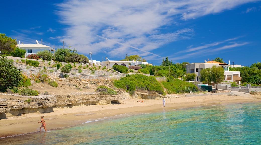 Pefkos Beach showing a beach and general coastal views