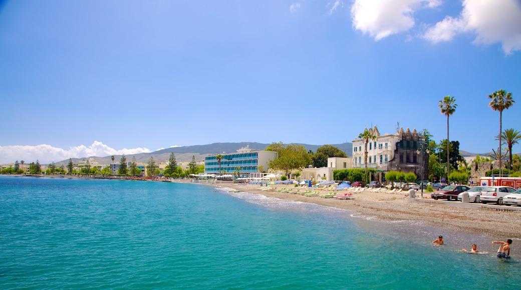 Hafen von Kos das einen Küstenort