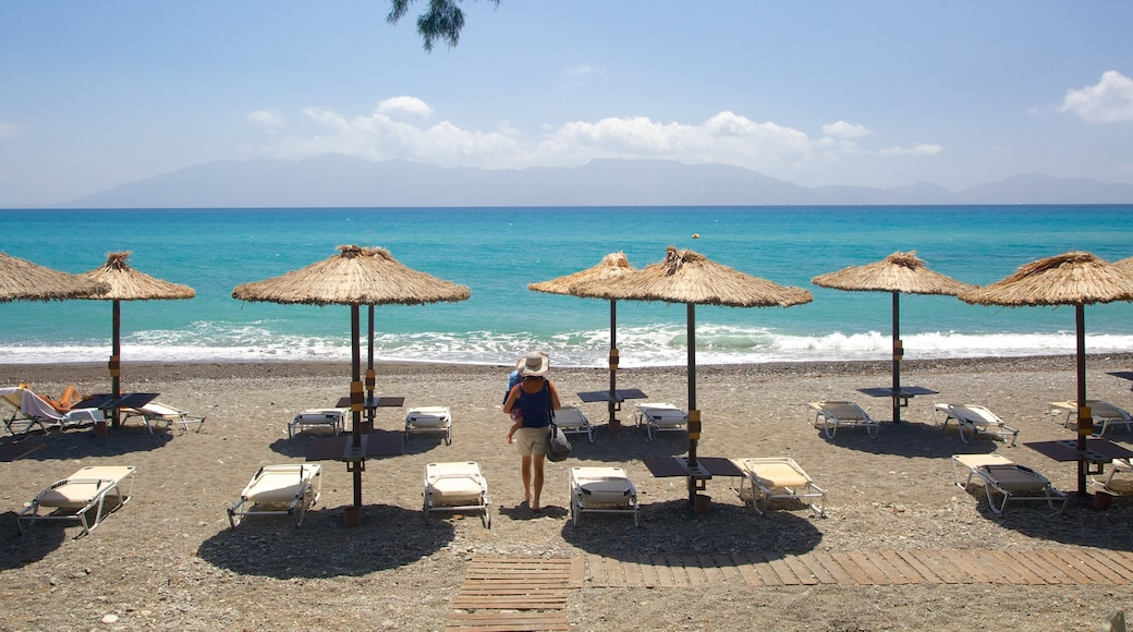 Agios Fokas Beach featuring a pebble beach