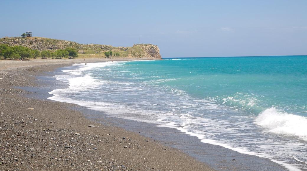 Agios Fokas Beach featuring a pebble beach and general coastal views