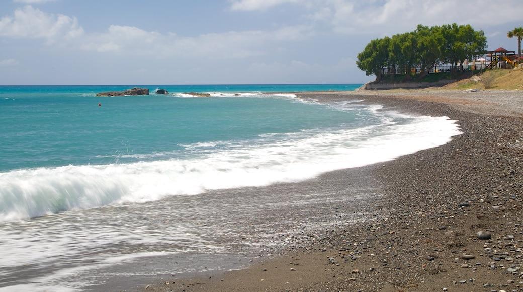 Agios Fokas Beach showing general coastal views and a pebble beach