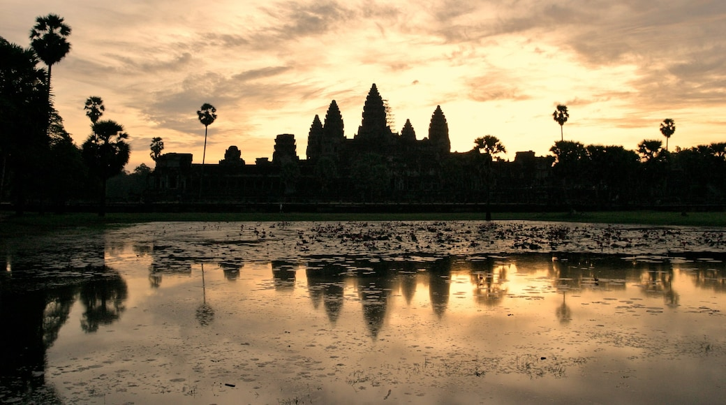 Cambodia featuring a sunset