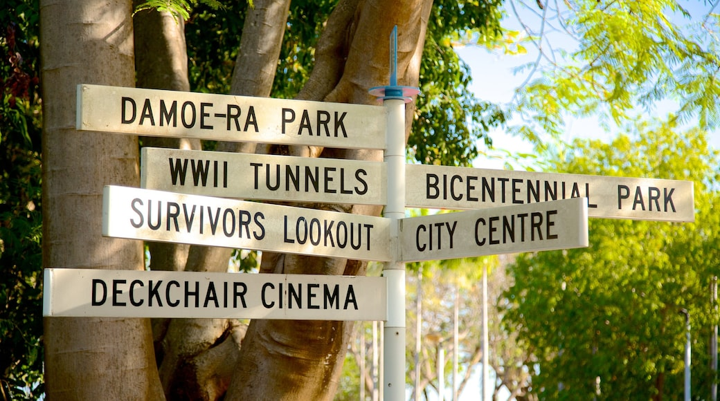 Bicentennial Park which includes signage