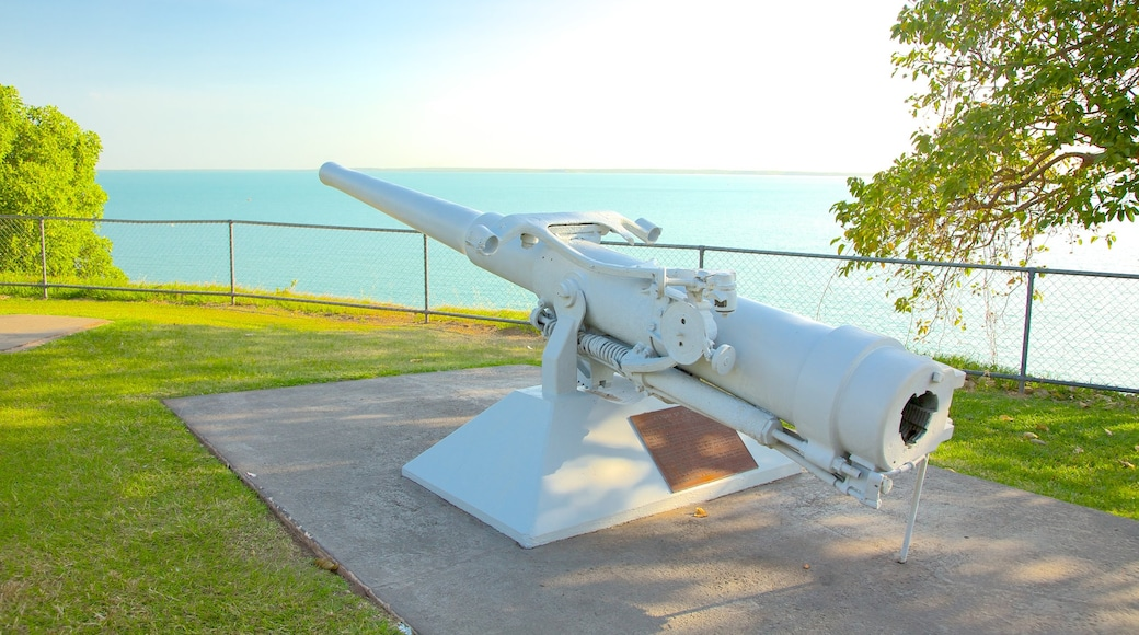 Bicentennial Park featuring military items