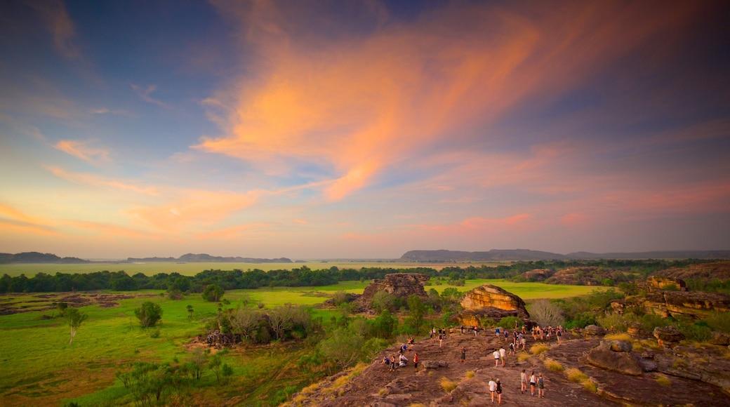 Kakadu National Park featuring landscape views and a sunset