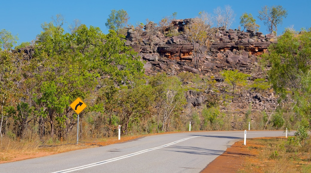 Litchfield National Park featuring signage and landscape views