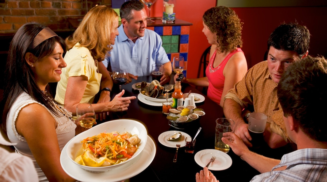 Prince Edward Island which includes food and dining out as well as a small group of people