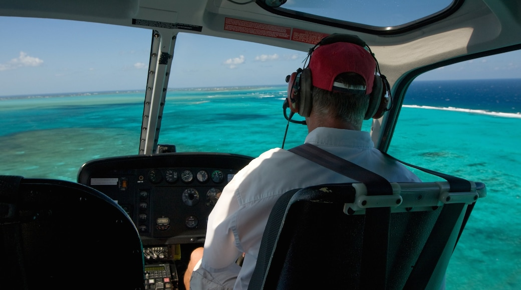 Grand Cayman showing an aircraft as well as an individual male